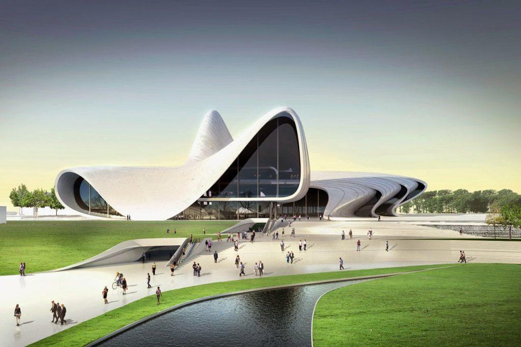 مركز حيدر علييف احدى المبانى المعمارية أوروبية الطراز فى باكو