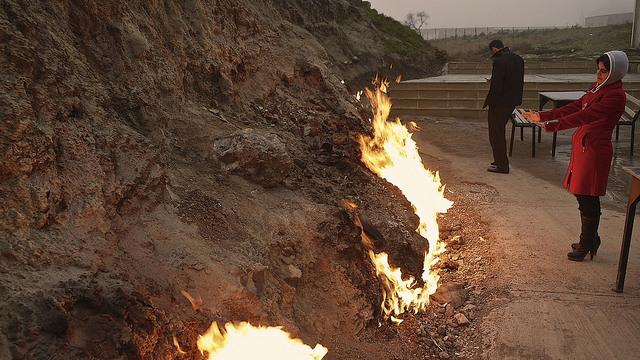 حرق الجبل في اذربيجان